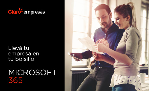 Claro Empresas ofrecerá las herramientas de la plataforma Microsoft 365