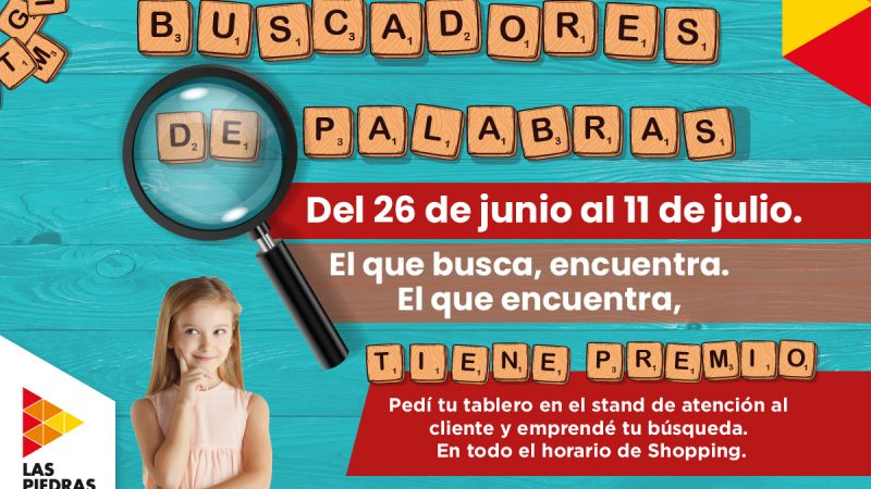 Las Piedras Shopping propone jugar en familia con «Buscadores de palabras»