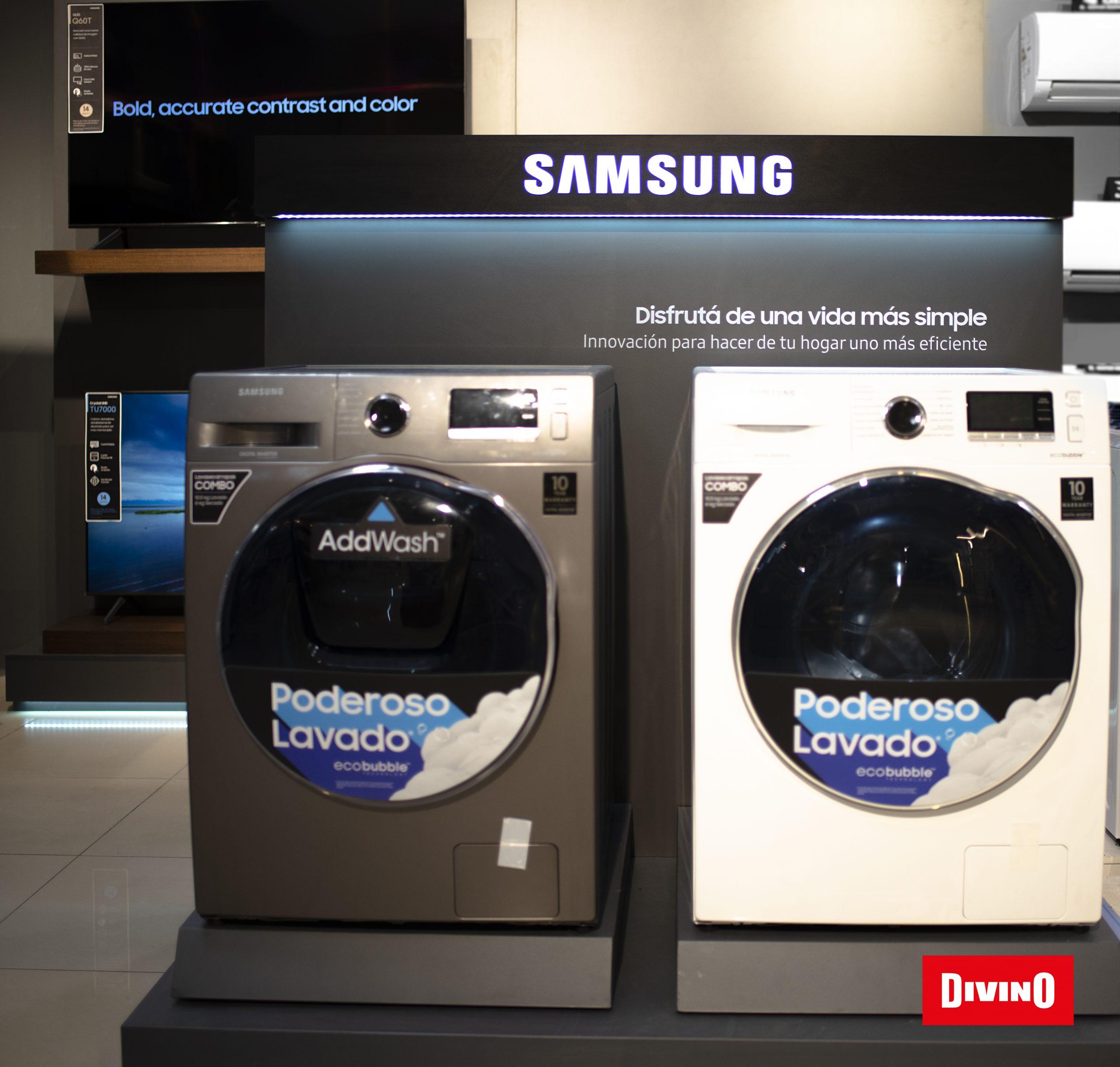 Samsung se incorpora a las propuestas de Divino con su línea de electrodomésticos