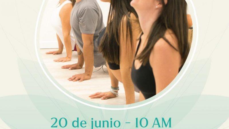 El día del yoga se celebró con danzas, movimientos, práctica de yoga y concierto de mantras