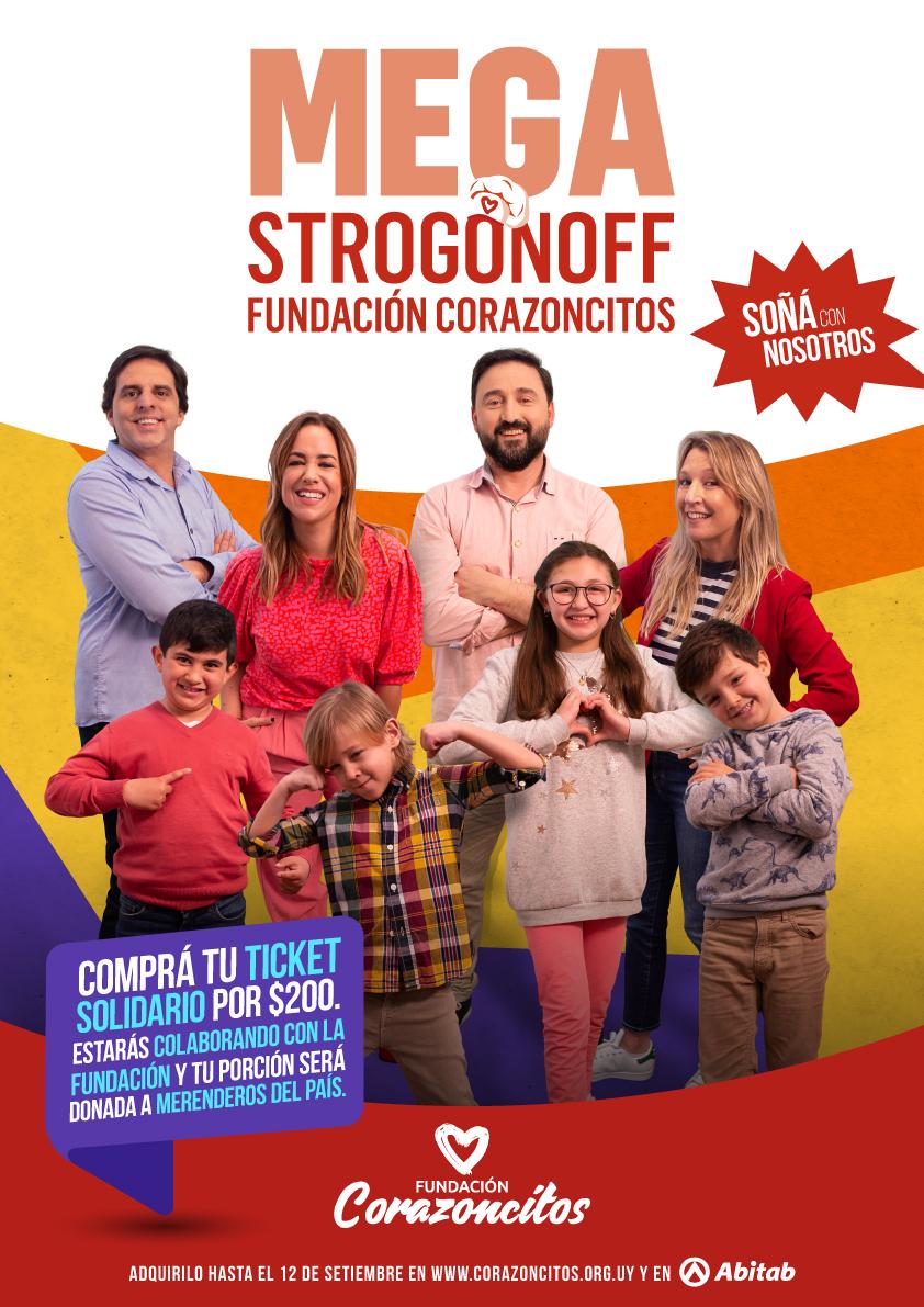Llega un nueva edición del Mega Strogonoff solidario de la Fundación Corazoncitos